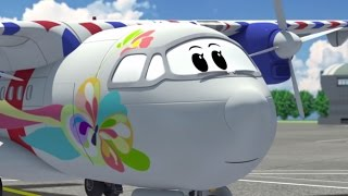 Airplane cartoon for kids - The Airport Diary - Illi
