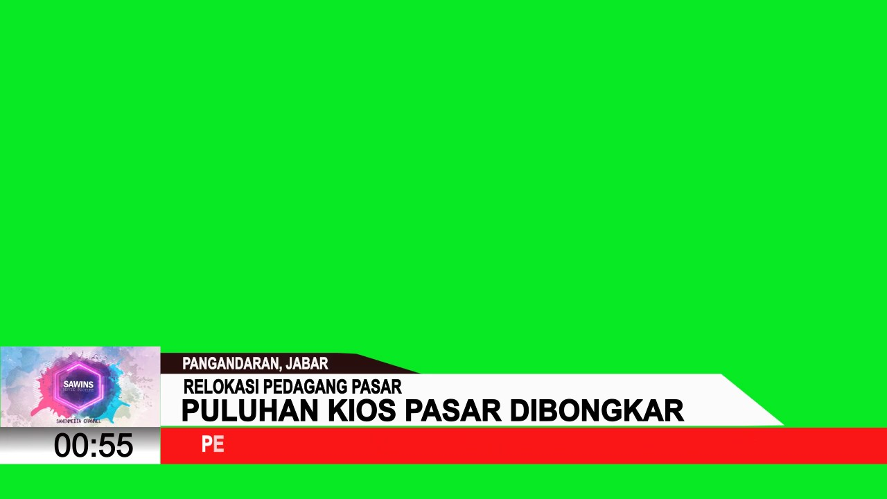 News Lower Third Tvone Indonesia Green Screen After Effect Template