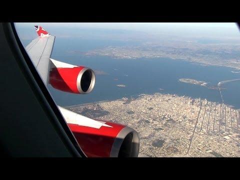 Virgin Atlantic B747 Spectacular Approach And Landing San Francisco