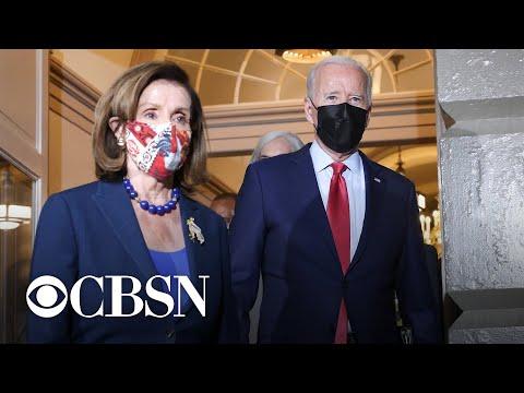 Biden meets with House Democrats to negotiate spending bills