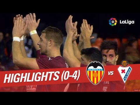 Resumen de Valencia CF vs SD Eibar (0-4)