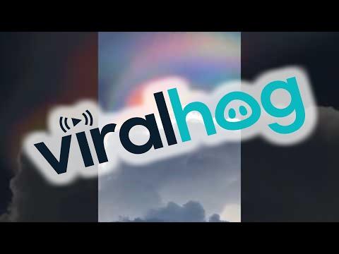 Rare Fire Rainbow Over Singapore || ViralHog