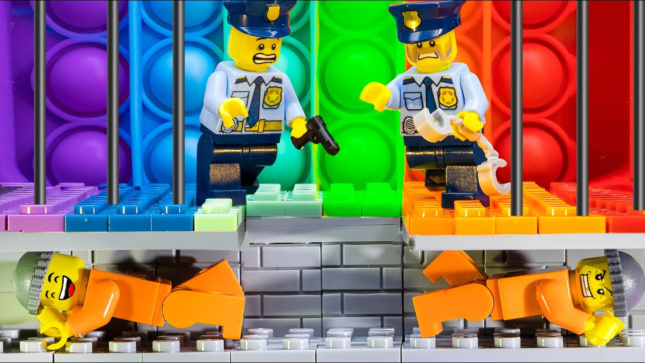 POP IT CHALLENGE TO LEAVE THE JAIL | Lego Escape From Special Prison | LEGO Land