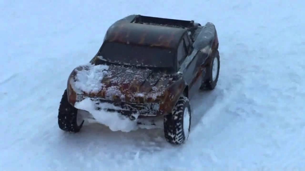 Traxxas slash 2wd snow bashing