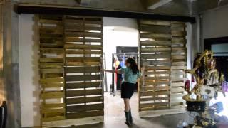 Reclaimed Wooden Pallet Sliding Doors
