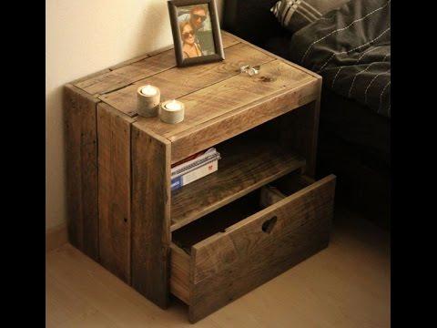 Nachttisch selber bauen Möbel aus Europaletten Diy nachttisch - holz mobel aus europaletten bauen