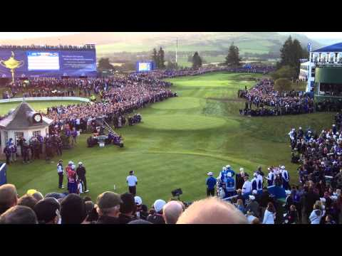 The opening tee shots of the 2014 Ryder Cup - Rose, Stenson, Watson, Simpson - Today's Golfer