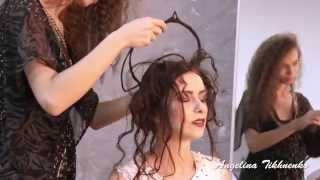 свадебная прическа fashion bridal wedding hairstyle кокошник из волос tutorial