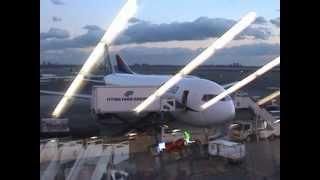 New York - Athens, Olympic Airways Flight, January 2009