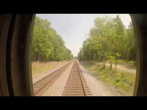 Amtrak Train 79  - Quantico to Fredericksburg Southbound Rear View