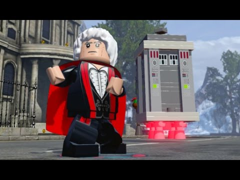 LEGO Dimensions - Third Doctor (Jon Pertwee) Free Roam Gameplay (Doctor Who Adventure World)