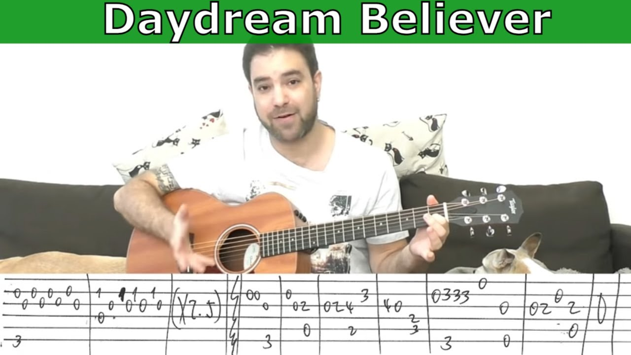 Fingerstyle Tutorial Daydream Believer Full Instrumental