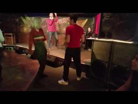 Dancing at Clipper Karaoke