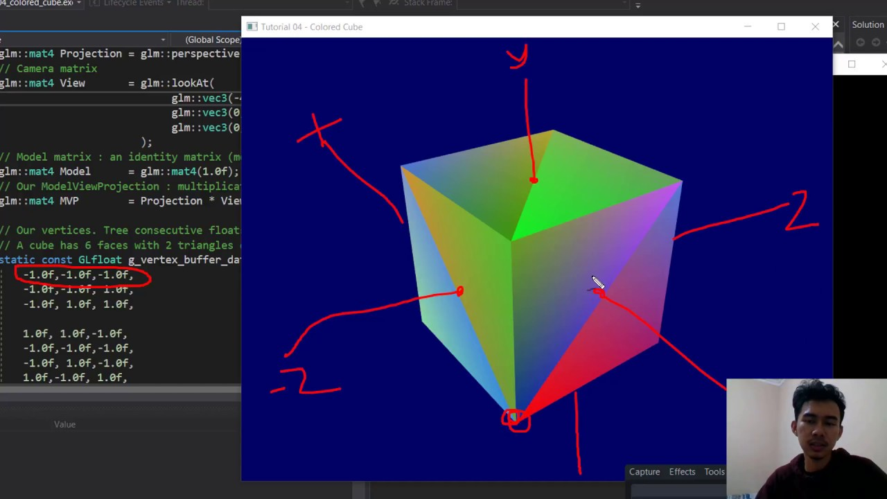 C++ OpenGL Tutorial - #4 A Colored Cube