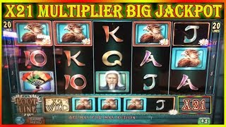 x21 MULTIPLIER BIG JACKPOT  WILDS HOOT LOOT  HIGH LIMIT SLOT POKIES TBT