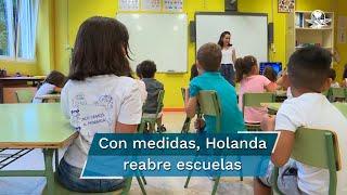 Holanda, prevé la completa reanudación de la actividad escolar presencial hasta nivel bachillerato, tras las evidencias científicas de que los niños no representan un factor sustancial en la propagación del Covid-19
