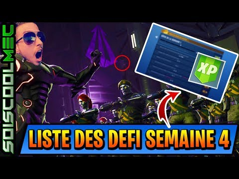 LISTE DEFI SEMAINE 4! FORTNITE BATTLE ROYAL! PASSE DE COMBAT SAISON 4! INFO NEWS!