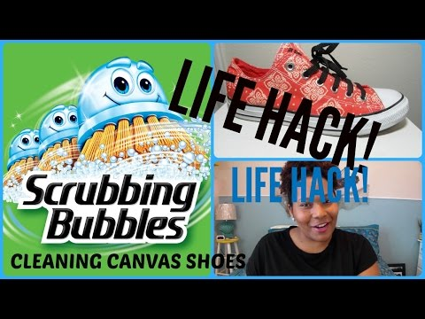 LIFE HACK!  HAVE TO TRY THIS!  Cleaning Canvas and Rubber Sole Shoes