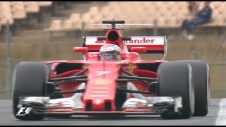 raikkonen and ferrari go quickest   f1 testing 2017 day two
