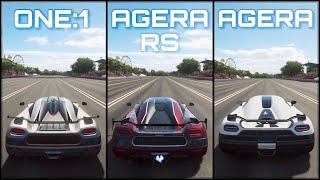 Forza Horizon 4 | Koenigsegg ONE:1 vs Agera RS vs Agera | The Ultimate Koenigsegg Battle!
