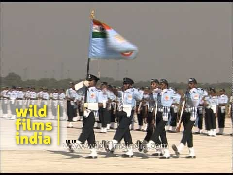 Marching contingent of IAF takes part in Air Force day