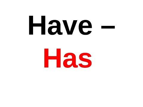Использование глагола Have или Has