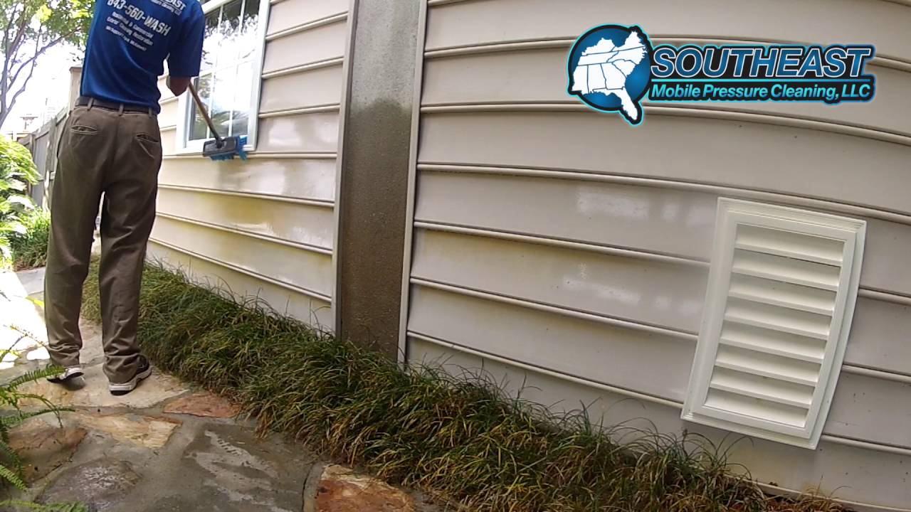 Rust Stain Removal From Vinyl Siding Charleston Sc Youtube