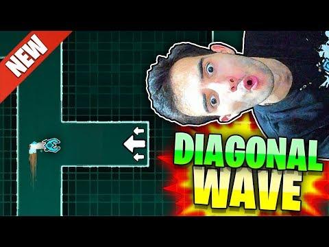 """NUEVA MECÁNICA: """"DIAGONAL WAVE"""" en GEOMETRY DASH 2.2"""