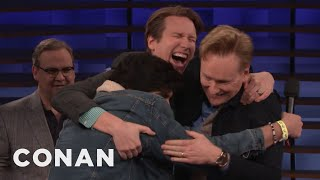 """Pete Holmes & Conan Play """"I Got It"""" With An Audience Member"""