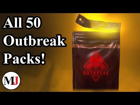 All 50 Outbreak Packs Opened! - Rainbow Six Siege
