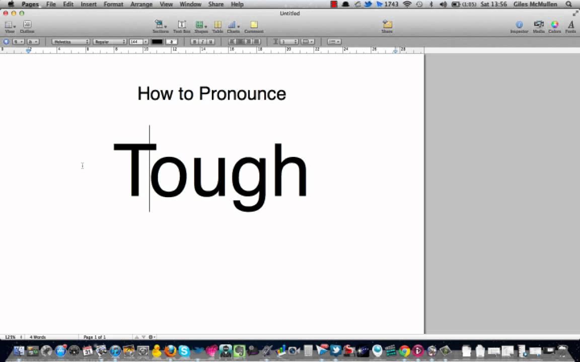 How to pronounce tough