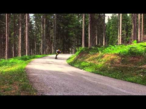 One Way Forest  Aleix Gallimo On The Vecter 37 Longboard By Original Skateboards