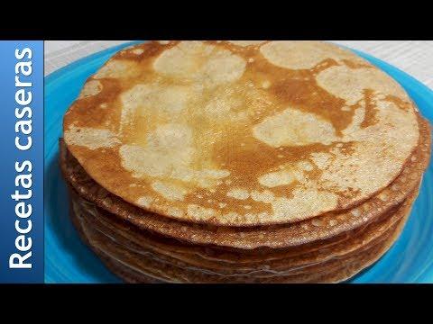 Cómo preparar Panqueques de harina integral. Receta.