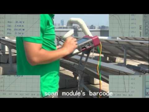PV900 IV CURVE tester for solar panels