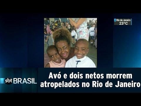 Avó e dois netos morrem atropelados no Rio de Janeiro | SBT Brasil (14/09/18)