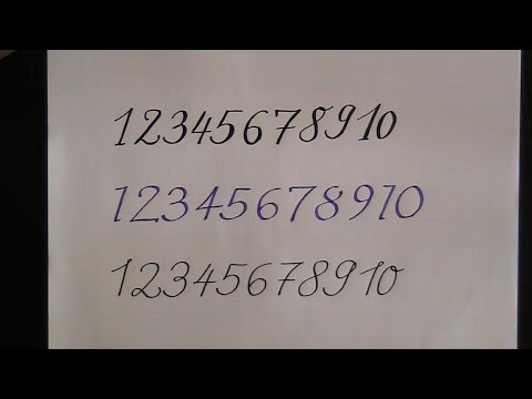 How To Write In Cursive Calligraphy Numbers For