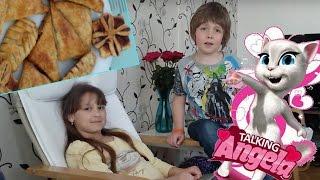 Milföy tatlısı ve konuşan Angela oyunu. Çocuklar için Türkçe bilgisayar oyunları ve yemek tarifleri