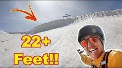 Snowboarding The Peak 9 Cornice at Breckenridge!! - (Season 3, Day 180)