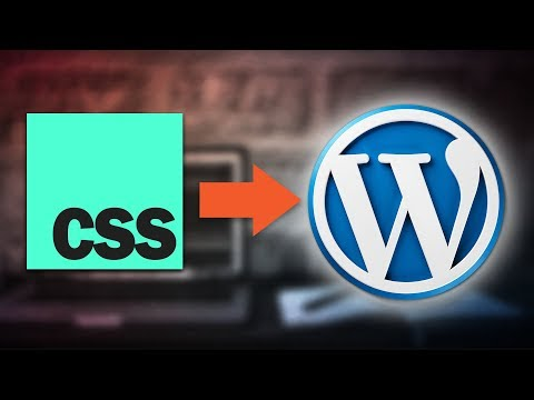How To Add Custom CSS HTML To Wordpress Post