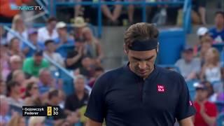 Hot Shot: Federer Lands Backhand Winner On Run Cincinnati 2018
