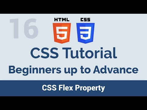 16 CSS Flex Property - beginners up to advance css tutorial thumbnail