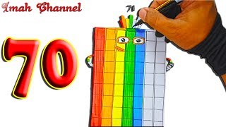 Numberblocks 70 - Draw and coloring number 70 by Imah Channel