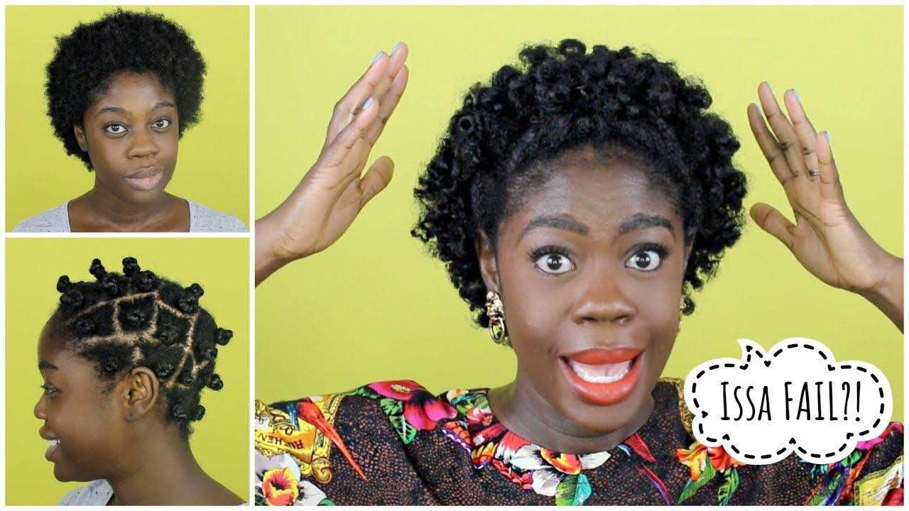 Bantu Knot Out On Short Shrunken 4c Hair Fail How To Fix It Youtube