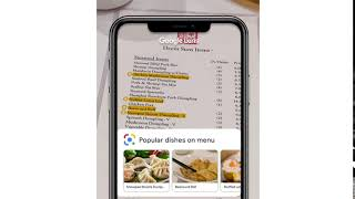 See what's popular on menus with Google Lens
