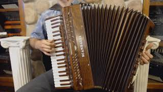 SCANINT120MW Mahogany Scandalli Intense Piano Accordion LMM H 41 120 12999