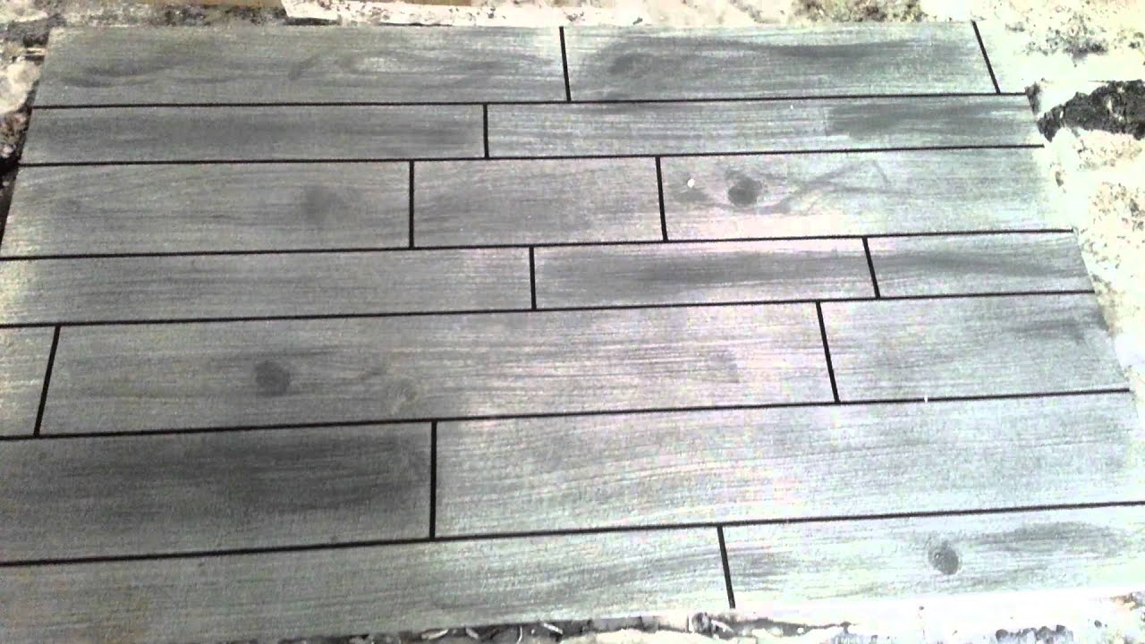Concrete Overlay Wood Grain Effect Youtube