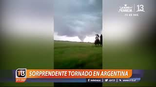 Sorprendente tornado en Argentina