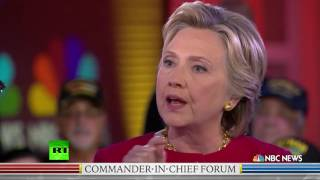 'You clearly corrupted our national security' - US veteran to Hillary Clinton
