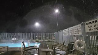 Hottub in The Snow at My Place Hotel 🏨 St George Utah