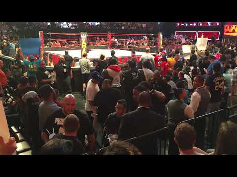 Father and son gets kicked out of raw Barclays center